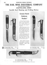 Swedish Steel Hunting and Fishing Knives - Sporting Goods Sewing Machines - 1929