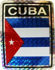 Wholesale Lot 12 Cuba Country Flag Reflective Decal Bumper Sticker