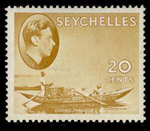 SEYCHELLES GVI SG140a, 20c brown-ochre, LH MINT. Cat £29. CHALKY