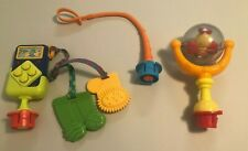 Lot 3 Evenflo Exersaucer Switch-a-Roo Toys Holder Phone Spinning Bee Replacement