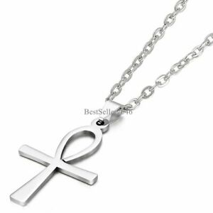 Egyptian Ankh Cross Of Life Egypt Symbol Pendant Necklace Stainless Steel Chain