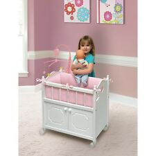Baby Doll Crib With Cabinet Bedding Mobile Toddler Girls Xmas Toys Kids Play Set