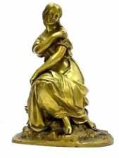 ATTRIBUTED ADRIEN ETIENNE GAUDEZ CLASSICAL MAIDEN 19TH CENTURY GILT BRONZE