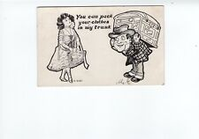 You Can Pack Your Clothes In My Trunk Funny Undivided Back Postcard 1903 Cancel