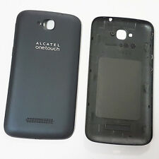 Genuine RETRO COPRIBATTERIA ORIGINALE PER ALCATEL ONE TOUCH POP C7-Nero bluastro