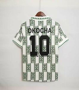 Retro 1994 Nigeria Away Jersey Mens Adult With OKOCHA #10