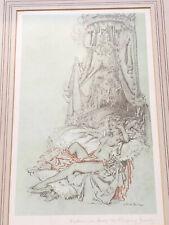 Russell Flint Signed Madame Du Barry Sleeping Beauty Frame Art Print One Of Pair