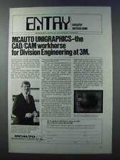 1981 McDonnell Douglas Unigraphics CAD/CAM Software Ad