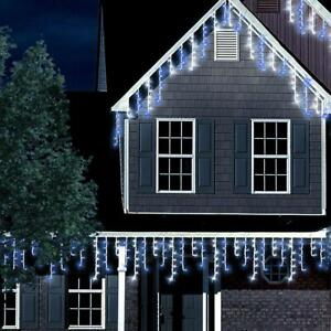 ANSIO Lichterkette LED Eisregen Eiszapfen Weihnachtslichter 7,5m