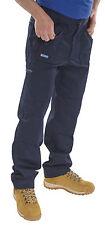 """Click Workwear Trousers AWTN46 46"""" Waist Regular Leg BLUE"""