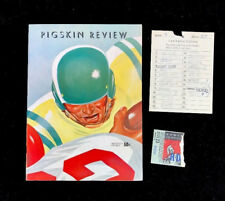 1959 USC Trojans VS Baylor Bears Pigskin Review W/ Ticket Stub & Spirit Card