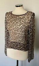 Immaculate DAY BIRGER ET MIKKELSEN Leopard Print Silk Top 38 UK 8-10