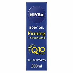 NIVEA Q10 Body Oil, Firming Plus Stretch Marks, 200 ml