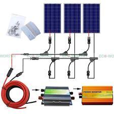 300W Solar Kit :3 x 100W Solar Panel With 1000W Pure Sine Wave Inverter 12V Home