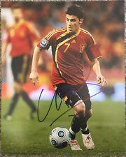 David Villa Signed Spain 8x10 Photo New York City FC Proof