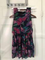 Loft Lite Purple Floral Dress size S