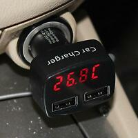 4in1 3.1A Dual 2 Ports USB Car Charger Adapter Socket With LED Tester Voltmeter