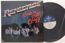 RARE Renegade Rock N Roll Crazy Allied Artists LP Vinyl 1983 (Promo) -  NM