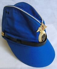 Soviet Russian Navy Tropical Blue Pilotka Visor Garrison Cap Hat Badge 55cm S