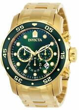 Invicta Mens Pro Diver Chronograph 18k Gold-Plated Watch