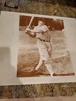 Lou Gehrig 11 x 14 Vintage Sepia Baseball Photograph Nice Condition