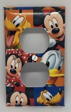 MICKEY MOUSE OUTLET COVER PLATE MINNIE GOOFY DISNEY PLUTO DONALD DUCK