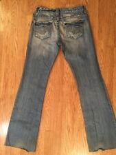 "Women's Big Star 31XXL Sweet 20 Sl. Flare Denim Jeans. Inseam 35"". Distressed"