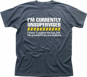 Unsupervised Mens Funny Joke t-shirt Gift for Him or Her Son Dad Grandad  fn9225