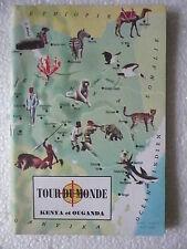TOUR DU MONDE n° 63 KENYA OUGANDA Géographie Collector images couleur Mai 1963