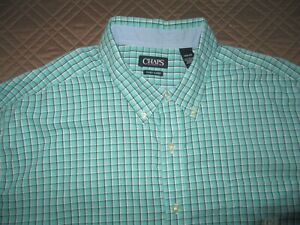 Chaps button down easy care long sleeve shirt size 4xb