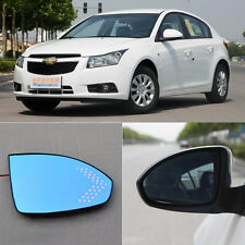 Rearview Mirror Blue Glasses LED Turn Signal with Heating For Chevrolet Cruze