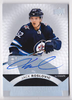 17-18 UD Premier Jack Roslovic Auto Rookie SILVER Spectrum Winnipeg Jets 2017