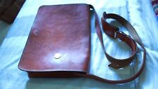 Moroccan Full Flap Real Leather Bag Office Classic Antique 13 inch Laptop Brown