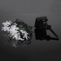 1 pc Solar Powered String Lights Snowflake LED Romantic Lamps for Festival Party