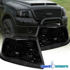 For 2004-2008 Ford F150 Headlights Head Lamps Smoke Pair Replacement