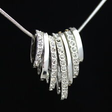 Deluxe Halskette Anhänger mit SWAROVSKI® ELEMENTS 18K Weißgold pl Neu