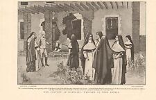 1900 ANTIQUE PRINT - BOER WAR-THE CONVENT AT MAFEKING WRECKED BY BOER SHELLS