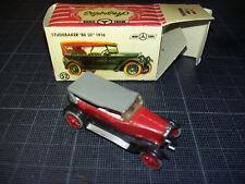 ANGUPLAS MINI CAR HO 1/87 1/86  STUDEBAKER BIG SIX ROUGE RED 1916 BOXED TBE N°52