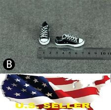 1/6 women shoes black Converse style Chuck Taylor Low Top for phicen hot toys US
