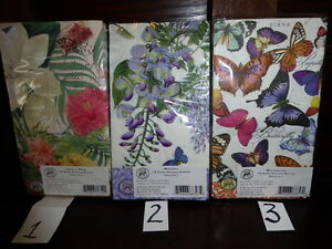 NEW PAPER PARTY BUFFET HOSTESS NAPKINS 3PLY GUEST TOWEL 15 CT floral butterfly