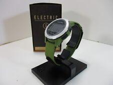 NEW ELECTRIC EW0200070081 MEN'S  SILVER OLIVE  DIGITAL WATCH T3-B17