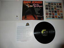 Tom Jones Live in Las Vegas 1969 1st pas 71031 EXC press ULTRASONIC CLEAN