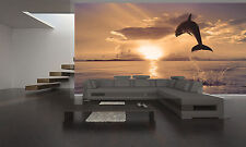 Beautiful Dolphin Wall Mural Photo Wallpaper GIANT DECOR Paper Poster Free Paste