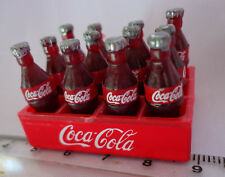 1 12 Scale 12 Loose Coke Bottles in a Plastic Crate Dolls House Coca Cola Drink