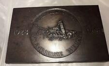 1928 1968 plaque dutch bitumineuze machine vereniging werken