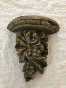"""Plaster Shelf Grape Leaf Corbel 6"""" x 6 3/4"""""""