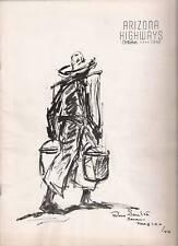 1940 OCTOBER ARIZONA HIGHWAYS ALAMOS JOSHUA FRST SKULL VALLEY CATTLE KING SONORA
