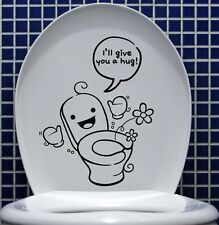 CUTE REMOVABLE WALL STICKERS DECAL KIDS FUNNY BATHROOM TOILET SEAT DECOR VINYL