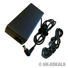 F Sony Vaio PCG-9N1M PCG-FR415S LAPTOP CHARGER ADAPTER + LEAD POWER CORD