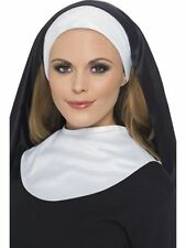 Women's Instant Nun Set Headpiece Collar Sister Act Stag Hen Movie Fancy Dress